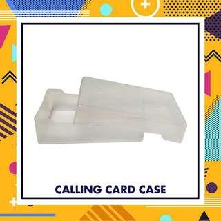 Clear calling card case