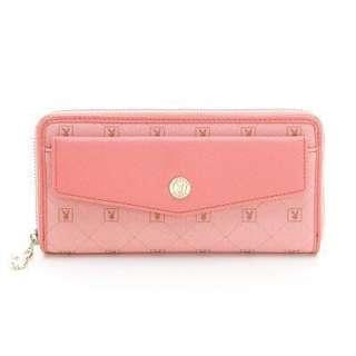 🚚 PLAYBOY- Heritage 系列風琴式長夾-粉紅色