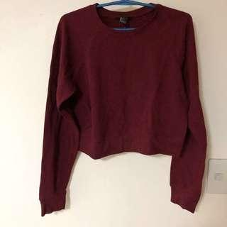 H&M MAROON PULLOVER SWEATER
