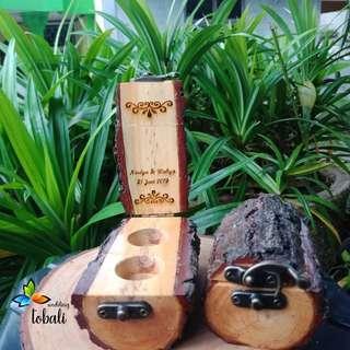 Ringbox wooden kayu tempat cincin