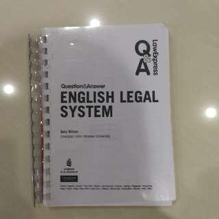 Englisb Legal Systen Q&A