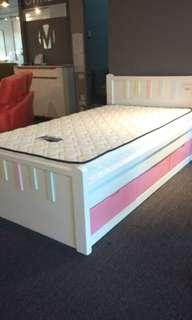 Solid wood bed w/ drawers