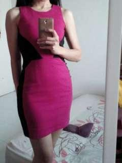 Pink bodycon dress (Quality Assured) #TRU 50