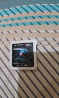 Biohazard revelation 3ds game Japan