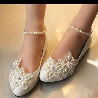 Sepatu wedges utk pernikahan