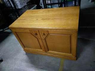 大樹二手柚木色實木電視櫃