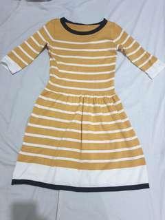 Yeloow stretchable dress