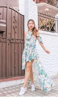 Room8008 Megamie Floral Mermaid Dress