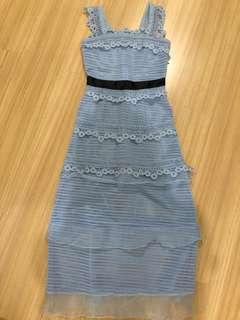Baby Blue Long Dress