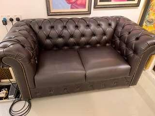 Leather Sofa 3+2. Less than 1 month use !