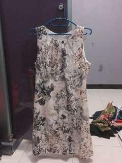 Dress bunga coklat