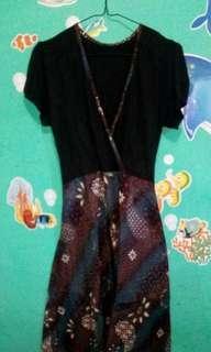 Dress batik casual / pakaian wanita / dress up