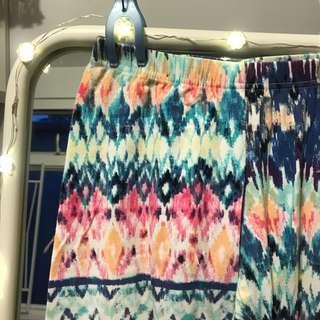 Cotton on rainbow tie dyed pants