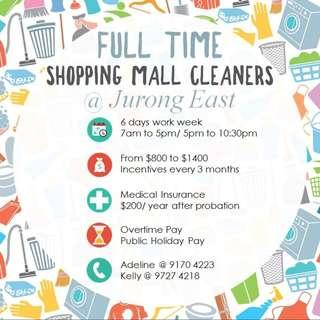 Full Time Cleaners @ Jurong East