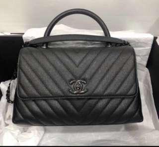 Chanel coco handle so black