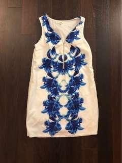Tropical abstract print dress