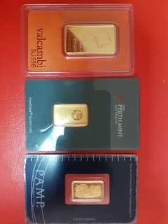 Various gold Bar
