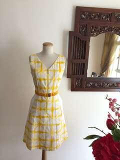 🚚 Dress (SALE) -Yellow Tie-dye Printed Dress