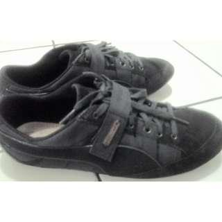 Sepatu Puma Alexander Mcqueen AMQ Cutman Low Black Trainer Original