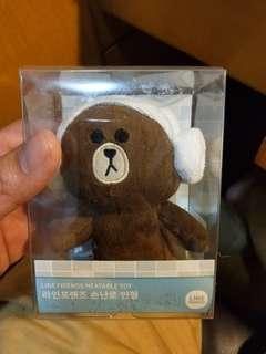 Line 熊大 暖氣公仔