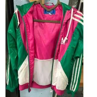 Adidas XS sport jacket with hat 運動褸