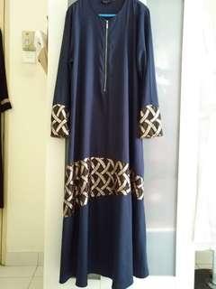 Az zara navy blue jubah