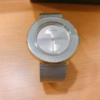 GUCCI U-Play 米蘭時尚風腕錶-銀/35mm