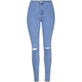 factorie hight waist knee ripped jeans