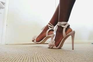 MISSGUIDED Nude Tassle Heels