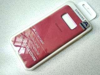 Samsung Note 8 Alcantra Case brick color premium case