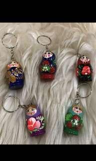 Gantungan kunci boneka Rusia
