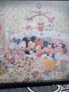 Disney jigsaw puzzle with frame