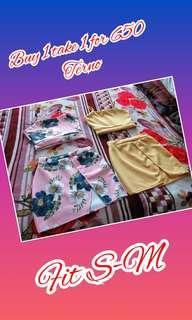 Buy  1 take 1 terno crop top and skirt