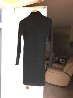 Wilfred black turtle neck dress