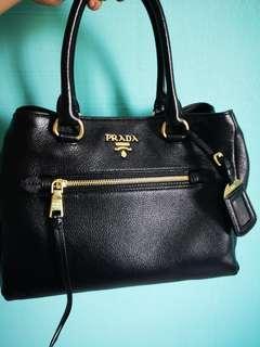 da3fb5e844 prada leather bag authentic