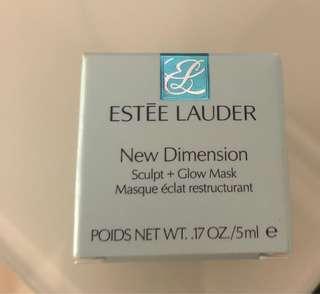 Estée Lauder new dimension sculpt + glow mask 5ml 多角度緊塑亮膚面膜 100% new