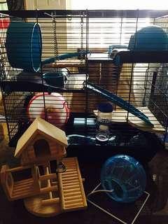 倉鼠籠 倉鼠用品 倉鼠玩具