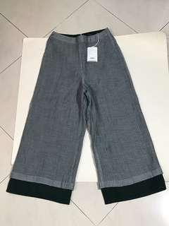 全新連吊牌Initial 灰色闊褲 腰約68cm 1碼