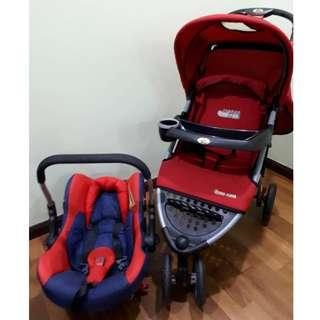 Stroller and Carrier + carseat