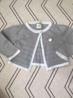 🚚 3-6M Baby girl grey cardigan