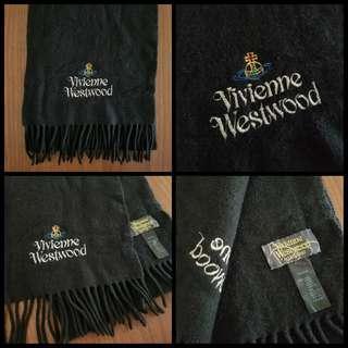 90%New Vivienne Westwood Scarf in Black 頸巾