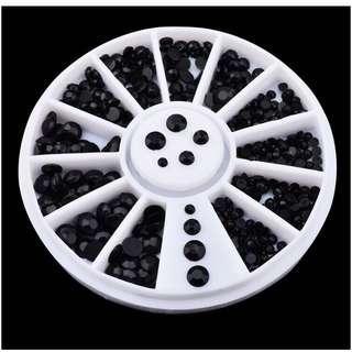 🚚 Black Rhinestones 2mm 3mm
