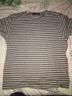 Brandy Melville Stripped Shirt One Size