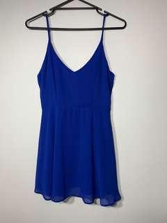 Pretty bright blue dress