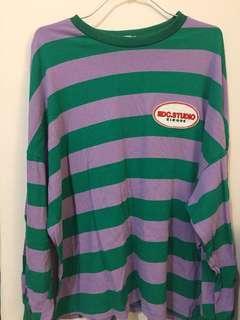 紫綠條紋上衣 #行星