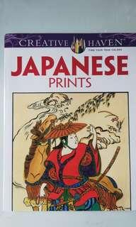 Japanese Prints Adult Coloring Book