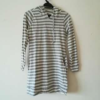 stripe hoodie dress