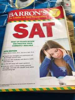 🚚 SAT Barron's Preparation Book