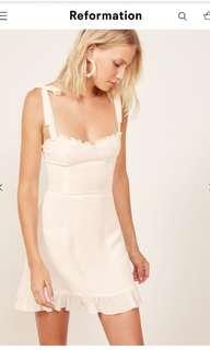 Reformation White Christina Dress