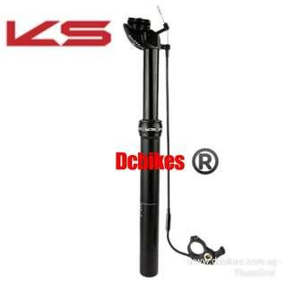 🆕! KS | Kind Shock 27.2mm MTB External Routing Remote Dropper Seat Post + Cable and E10 Bar Remote Lever #Dcbikes 27.2